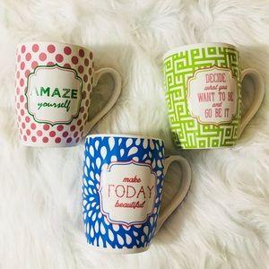 Inspiring Coffee Mugs Set of 3